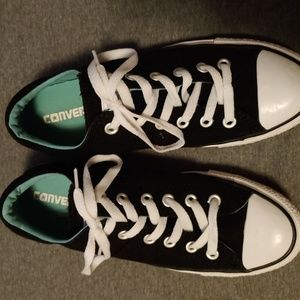 Custom Converse Low Originals With Teal Inside